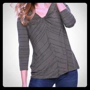 NWT Apt. 9 Olive Knot-Front Casual Top XXL